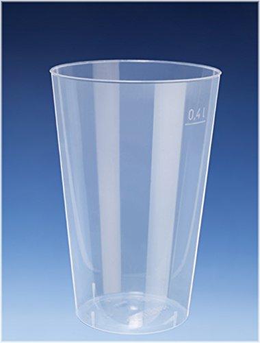 100x 400ml Cocktail Becher / Trinkbecher aus PP / nahezu unkaputtbar / alt. Zu Mehrweg / Mehrwegbecher - Exklusives Angebot der Marke EVENTpac (Becher Bier)