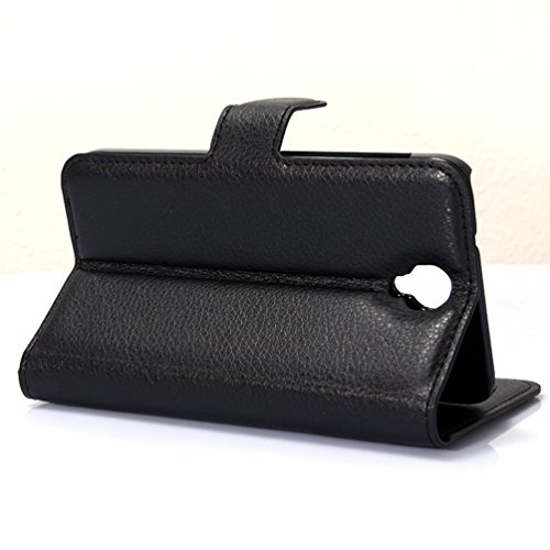 Manyip Téléphone Coque - PU Cuir rabat Wallet Housse [Porte-cartes] multi-Usage Case Coque pour pour Alcatel One Touch iDOL 2 OT6037K Classique Mode affaires Style(JFC3-3) A