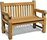 Gladstone 2 Seater Garden Bench - 4ft Teak Park Bench - Jati Brand, Quality & Value