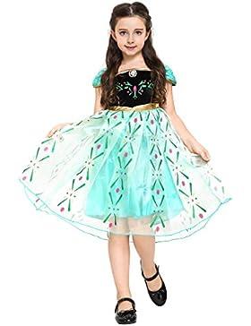 Katara - Anna Kostüm-Kleid für Kinder inspiriert von Disney für Karneval