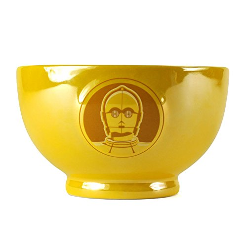Star Wars C-3PO Müslischale mit Metalleffekt - Müslischüssel Schüssel Droide (Star Wars Schüssel)
