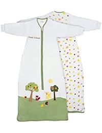 Sac de couchage pour bébé Slumbersac Manches Longues: environ 2,5Tog–Amis de la forêt–Différentes tailles: de la naissance jusqu'à 6ans
