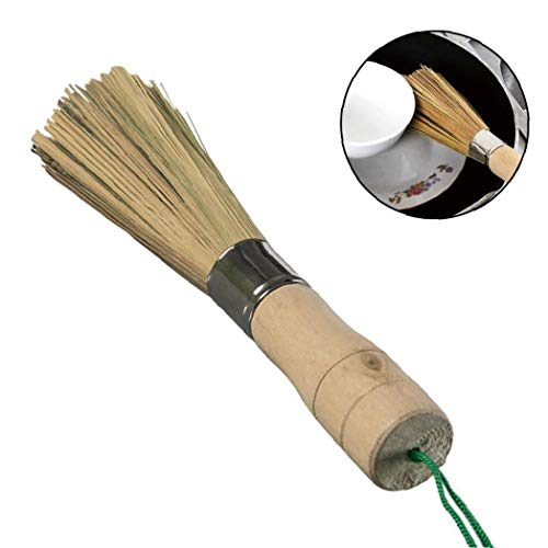 Culer Bambus Pinsel Bambus Stiel Reinigung Whisk Topfbürste Küche Wok Bürste Mit Holzgriff Für Grill Badezimmer Reinigen Scrubbing-Werkzeug