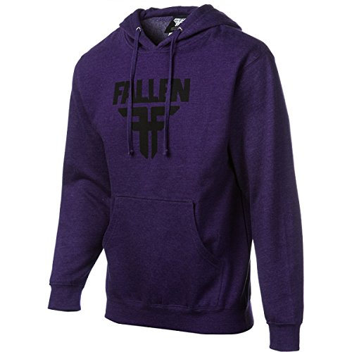 Fallen Insignia - Felpa con cappuccio, da uomo heather purple/black (heather purple/black)