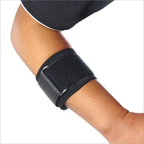 TRIXES Gepolsterte Stützbinde aus Neopren in Schwarz, verstellbar, für Ellenbogen, Tennis, Fitness, Sport