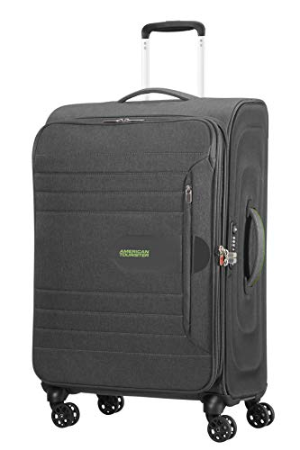American Tourister Sonicsurfer - Spinner 68/25 Expandable Koffer, 68 cm, 83.5 L, Dark Shadow