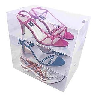 Tallerheels Schuhboxen, stapelbar, mit 5 Trennwänden, transparent, 5Stück