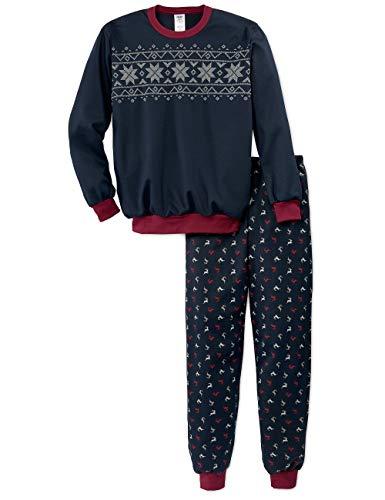 Calida Jungen Family & Friends Zweiteiliger Schlafanzug, Blau (Dark Sapphire 479), (Herstellergröße: 128)