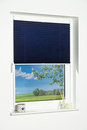 K-home Klemmfix-Plissee Palma Blau 70 x 130 cm (B x L) Lichtschutz +++ Moderne Crushed Optik +++ - 2