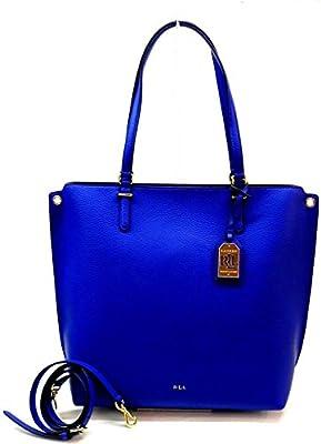 Ralph Lauren - Bolso al hombro de Piel para mujer Azul CROWN BLUE