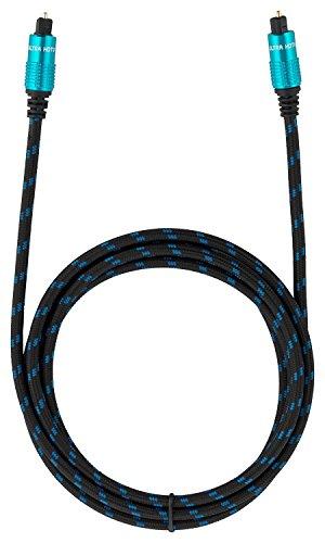 Ultra HDTV Premium Toslink Kabel 2 Meter / Optisches Digitalkabel Audiokabel
