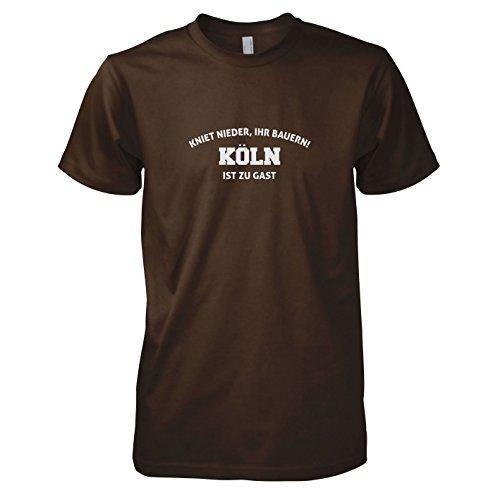 TEXLAB - Kniet nieder Köln - Herren T-Shirt Braun