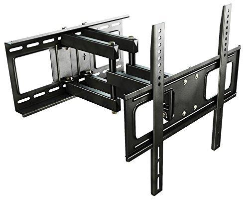 RICOO Wandhalterung TV Schwenkbar Neigbar S1544 Universal LCD Wandhalter Ausziehbar Fernseher Halterung Curved 4K LED OLED Flachbildfernseher 80cm/32-165cm/65 Zoll/VESA 200x200 400x400 / Schwarz