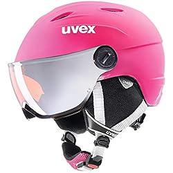 Uvex Casque de ski Junior Visor Pro pour enfant , Enfant, 5661919003, pink mat, 52-54