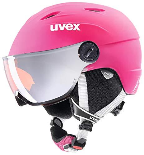 uvex Unisex Jugend, junior visor pro Skihelm, pink mat, 52-54 cm