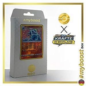 Krawell (Crabominable) 105/214 Holo Reverse #myboost X Sonne & Mond 10 Kräfte im Einklang - Caja de 10 Cartas de Pokémon alemanas
