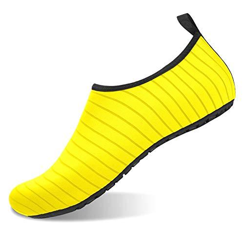 Einfarbig Schwimmen Schuhe Barefoot Watschuhe Unisex Quick Dry Wasser Schuh-Breathable Strand Pool Schuhe -