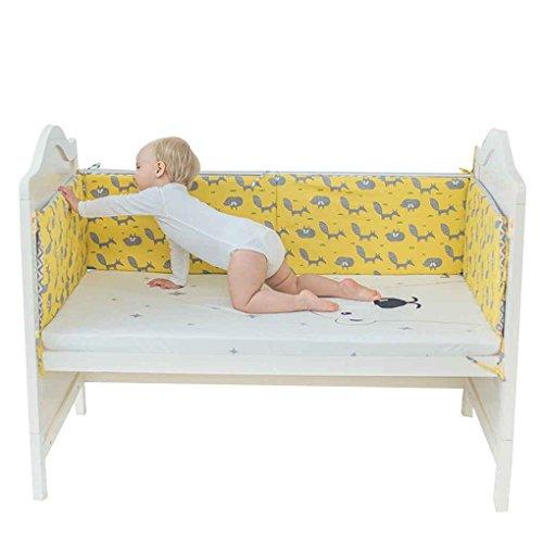 Baby-krippe Bettwäsche-auto (Focus Neugeborenes Bett Auto Cartoon-Muster Baby-Krippe-Schutz-Baby Cot Baumwolle Bettwäsche-Kleinkind-Cradle-Schutz gelbe Basis fox)