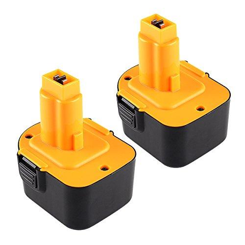 2X Reoben 12V 3000mAh Ni-MH taladro Bateria de repuesto para Dewalt DC9071 DE9037 DE9071 DE9072 DE9074 DE9075 DE9501 DW9071 DW9072 152250-27 397745-01
