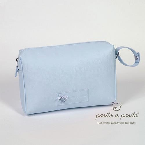 pasitto a Pasito – Trousse de toilette en cuir synthétique Pasito a Pasito Swarovski Bleu Nuage