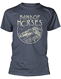 Live Nation Merchandise Band Of Horses Official T Shirt Peak Blue All Sizes