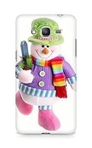 Amez designer printed 3d premium high quality back case cover for Samsung Galaxy Grand Prime (Snowman doll)