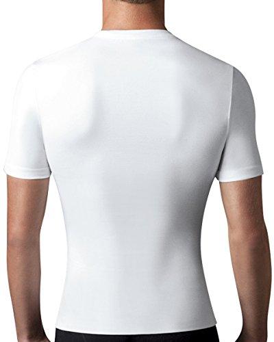 Spanx Baumwolle Kompressionsunterhemd mit Rundhalsausschnitt T-Shirt Herren-Shapewear White