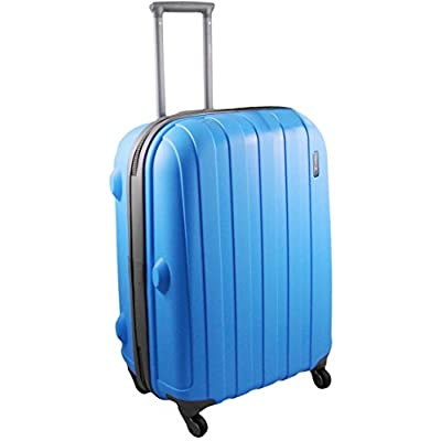 """'Luggage X' - 66cm (26"""") BLUE Hard Sided Polypropylene Lightweight Trolley Suitcase - suitcases"""