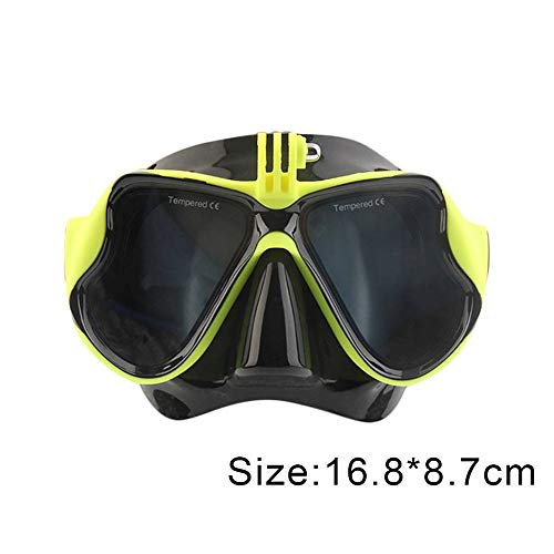 OOFAYWFD Unterwasserkamera Einfache Tauchermaske Scuba Schnorchel-Schwimmbrille Für Gopro,Yellow