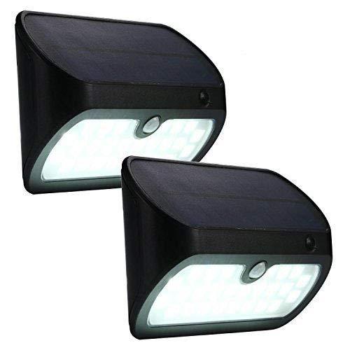 Asvert 26 LED Lampe Solaire Extérieure avec Détecteur de Mouvement Applique Solaire sans fil 3 modes d'éclairage intelligent Etanche IP 65 Eclairage Extérieur pour Allée Jardin Cour Garage (2 pièces)