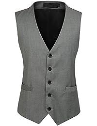 b952ee3bfdf1 Gilet Costume Homme Casual Mariage Sans Manche Gilet Veste Business Gilet  De Costume
