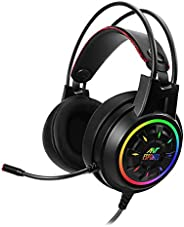 Ant Esports H707 HD RGB Wired Gaming Headset | Noise Cancelling Over-Ear Headphones with Mic for PC / PS4 / Xb