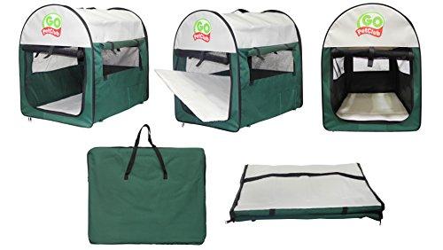 Go Pet Club Soft-Transportbox für Hunde, 81,28cm, Grün
