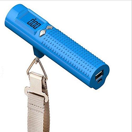 Handgepäck Scale 50 Kg mit Taschenlampe Portable Kleine Elektronische Waage Travel Fast Fishing Scale,Blue