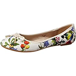 CL by Carlton London Women's Panya White Ballet Flats - 7 UK/India (40 EU)