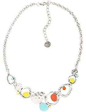DESIGUAL Damen-Halskette Global traveller Versilbert-74G9EC45013U