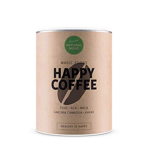 Natural Mojo Happy Coffee – Gemahlener Superfood-Kaffee (250 g) – Beflügelnd leckerer Kaffee...