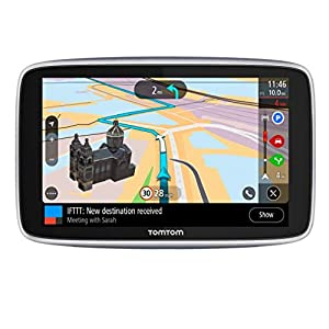 TomTom Car Sat Nav GO Premium 5 Inch, with Traffic Congestion and Speed Cam Alerts Thanks to TomTom Traffic, World Maps, Updates via WiFi, Handsfree Calling, Click-And-Drive Mount
