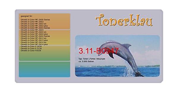 Toner Cyan Olivetti d-Color MF2603,2604,2613,2614,2603 plus,P2026,2126,B0947