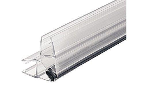 GedoTec Sello magnético Sello de puerta de cristal Imán Sello de la puerta de ducha Sellado de ducha para Mamparas de baño 90° Longitud 2000 mm PVC Transparente para Grueso de cristal 8 - 10 mm aprobado Calidad de marca