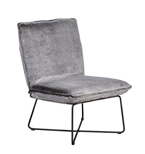 Elle Decor UPH10033B Bennie Accent Sessel, ohne Armlehne Modern Braun/Buche -