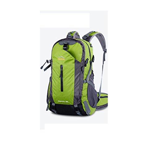 YAAGLE Wasserdicht Bergsteigen Taschen 50 L outdoor Rucksack Gepäck vielfältige Farben Trekkingrucksack Reisetasche-dunkelblau grün