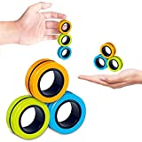 magnetic bracelet ring unzip toy magic ring props tools,fingears magnetic rings-anti-stress game fidget, magnetic bracelet ring decompression toy,magic ring props tools (Multicolor (random color))