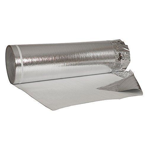 50 m² Alu-Trittschalldämmung mit Aluminium - Dampfbremsfolie 2mm Stärke für Laminat, Parkett usw
