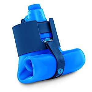 Nomader Collapsible Sports Water Bottle with Durable Leak Proof Twist Cap Reusable for Gym Travel Hiking and Camping - BPA Free, 22 oz, Large 22 ounce (650 ml)/Vibrant Blue