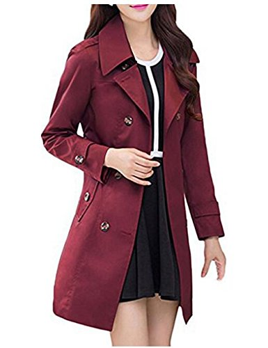 Hqclothingbox -  Cappotto  - Impermeabile - Donna Red