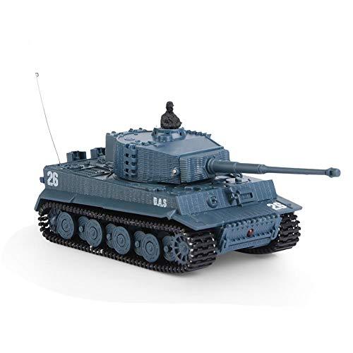 Dilwe RC Tank Spielzeug, 1/72 Skala 4 Kanäle Hohe Simulierte Fernbedienung Mini Tank Spielzeug Geschenk für Kinder