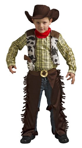Kostüm Indienne Fille - Disguise Billy The Kid Cow Boy Kostüm mit Hut und Pistole für Kinder (3-4 Jahre)