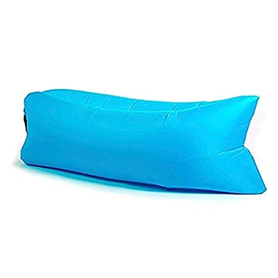 Starmo Blue Inflatable Lounger Sofa Sleeping Bag,Compression Air Beds,Portable Chair,Air Mattresses Beds.Ideal For Lounging, Camping, Beach, Fishing, Kids, Chilling, Parties, Swimming Pools, Camping And More.