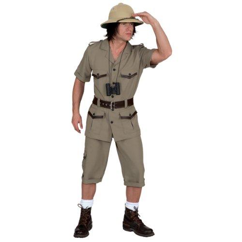 Safarianzug Oberteil,Hose,Gürtel Kostüm , - Entdecker Kostüm Männer